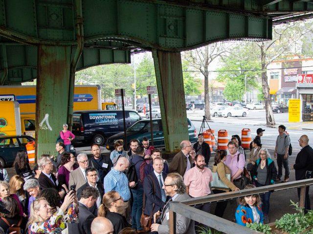 The reclaimed land beneath the Gowanus Expressway in Brooklyn. PHOTO: NY DOT