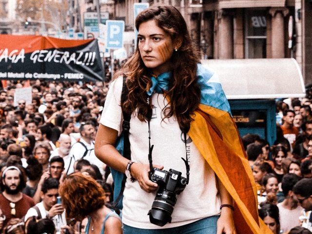 A Barcelona street protest